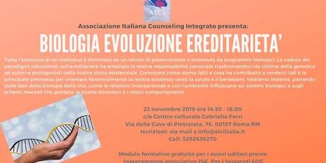 BIOLOGIA EVOLUZIONE EREDITARIETA' biglietti
