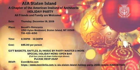 AIA Staten Island Holiday Party 2019 tickets