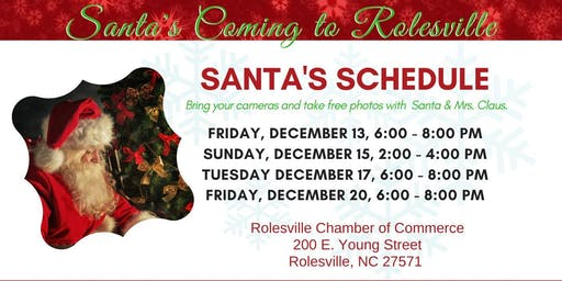 Visit With Santa in Rolesville