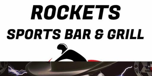 Rockets Sports Bar & Grill Texas-Modern DAY Cowboys & Back in Black Ac/Dc