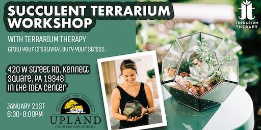 Succulent Pentagon Terrarium Workshop