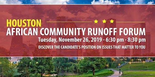 Houston African Community Runoff Forum