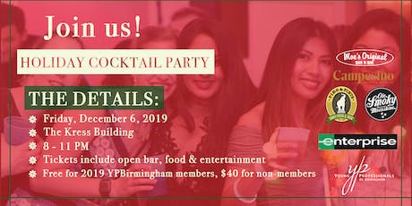 YPBirmingham 2019 Annual Holiday Party Sponsored by Enterprise Rent-A-Car tickets