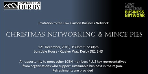 Low Carbon Business Network Christmas Networking & Mince Pies