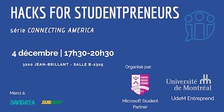 Connecting America: Hacks For Studentpreneurs billets