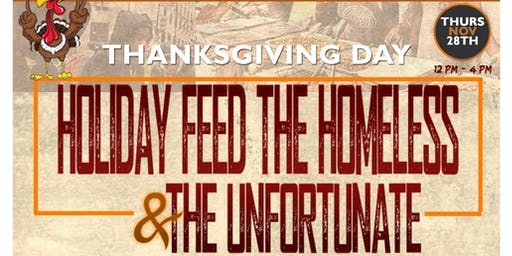 THANKSGIVING HOLIDAY FEED THE ELDERLY AND THE UNFORTUNATE!