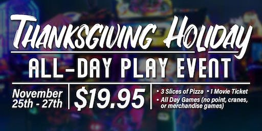 11/26 Thanksgiving All-Day Play Event!