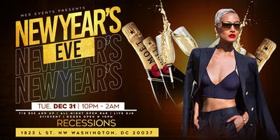 New Year's Eve At Recessions [WITH OPEN BAR STARTING $35 ONLY!]