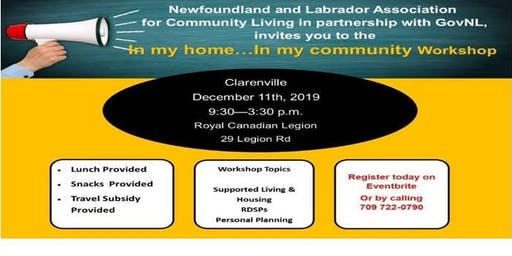 """In My Home...In My Community""  CLARENVILLE"