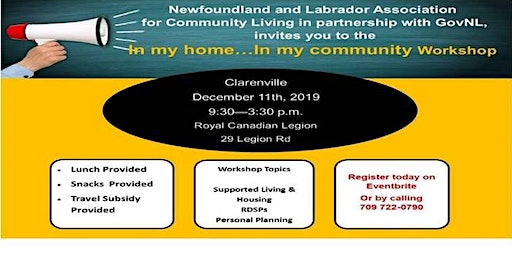 """""""In My Home...In My Community""""  CLARENVILLE"""