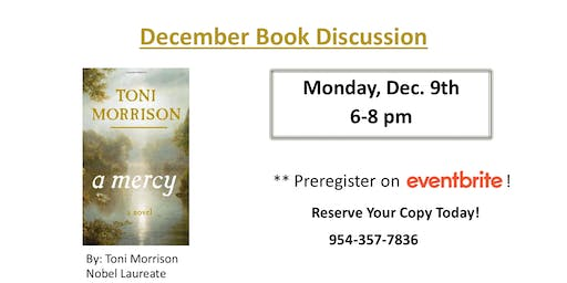 Book Discussion:  A Mercy by Toni Morrison