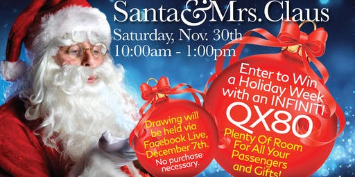 Santa & Mrs Claus at Chattanooga Auto Square