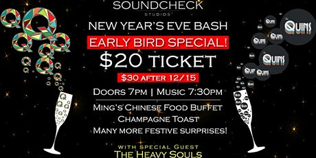 EARLYBIRD - NYE Soundcheck Party with QuadraFunk, Quins and Heavy Souls tickets