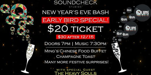 EARLYBIRD - NYE Soundcheck Party with QuadraFunk, Quins and Heavy Souls