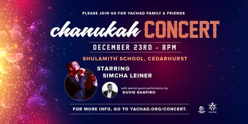 Yachad Family and Friends Chanukah Concert