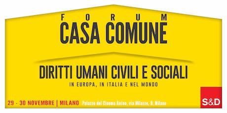 1° Forum di Casa Comune biglietti