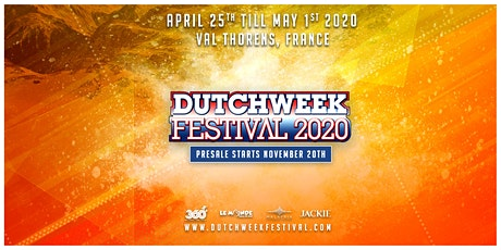 Dutchweek Festival 2020 tickets