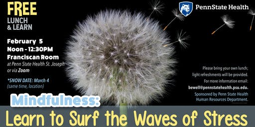 Lunch & Learn: Mindfulness, Learn to Surf the Waves of Stress
