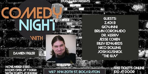 """Comedy night with """"Damien Figler"""" at the Artful Dodger"""