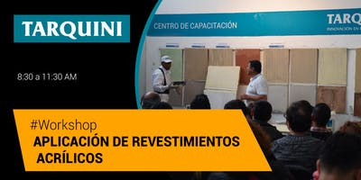 Workshop TARQUINI: Aplicación de Revestimientos Texturados