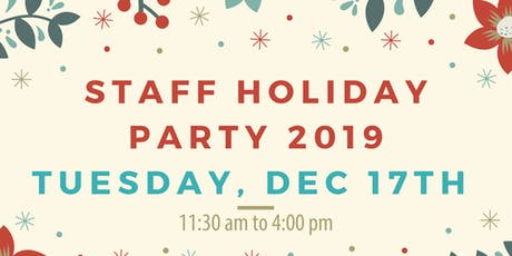 Staff Holiday Party 2019 tickets