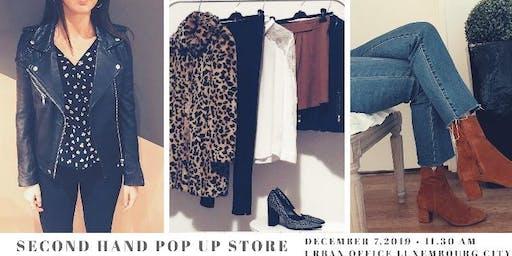 Second hand pop up store / pardonmycloset x urban office luxembourg