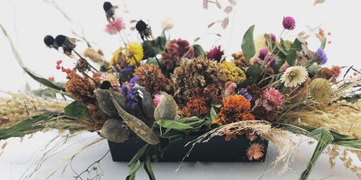 Dried Flower Arranging in 2 Parts: Containers (AM), and Wreaths (PM)