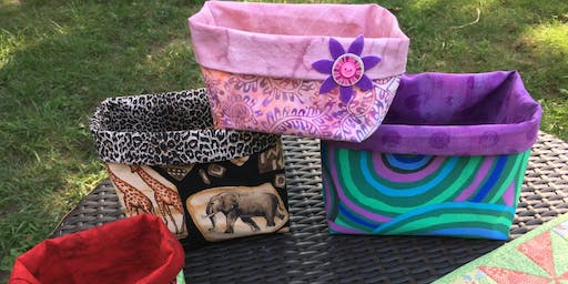 Intro to Sewing – Lined fabric boxes