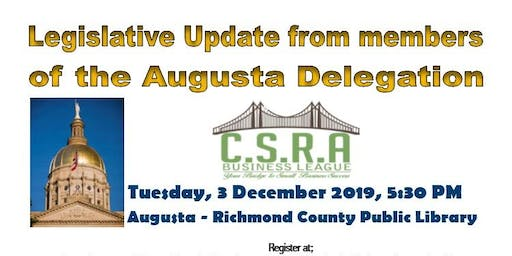 CSRA Business League Augusta Delegation Legislative Update Session
