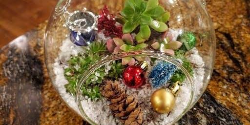 Christmas Succulent Terrarium