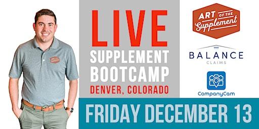 Art of the Supplement - Bootcamp - Denver