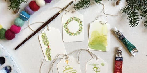 Jane & Pearl Christmas Watercolor Class at The Back Porch Mercantile