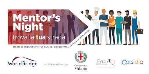Mentor's Night: orientamento al Lavoro in collab. con il Comune di Milano