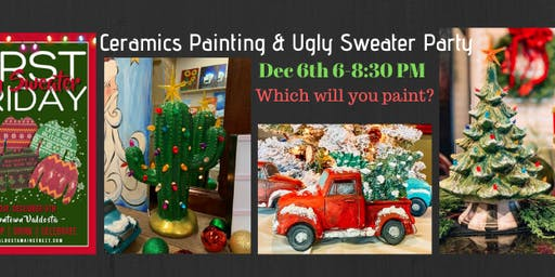 Christmas Ceramics Paint Night & Ugly Sweater Party