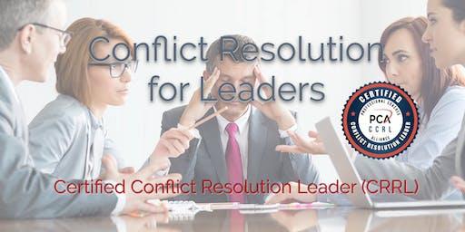 Certified Conflict Resolution Leader (CCRL) 2 Day Workshop - Austin
