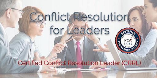 Certified Conflict Resolution Leader (CCRL) 2 Day Workshop - Chicago