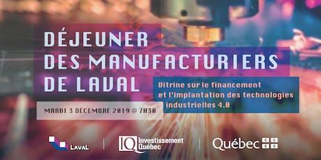Déjeuner des manufacturiers de Laval - Financement et implémentation du 4.0 tickets