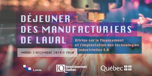 Déjeuner des manufacturiers de Laval - Financement et implémentation du 4.0