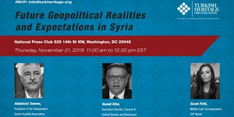 Future Geopolitical Realities and Expectations in Syria tickets