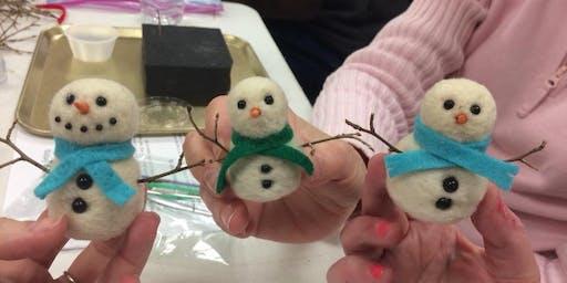 Felted Snowman Class