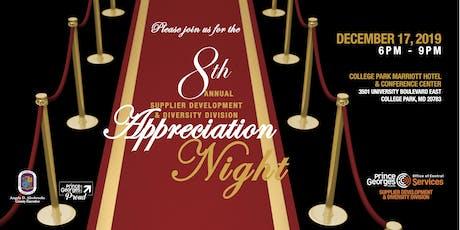 The 8th Annual Supplier Development & Diversity Division Appreciation Night tickets