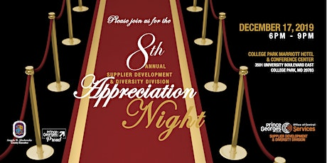 The 8th Annual Supplier Development & Diversity Division Appreciation Night tickets