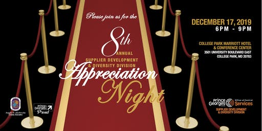 The 8th Annual Supplier Development & Diversity Division Appreciation Night