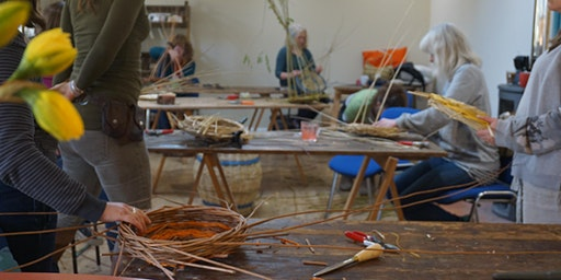 Willow Weaving Workshop with Wyldwood Willow - a square lidded basket