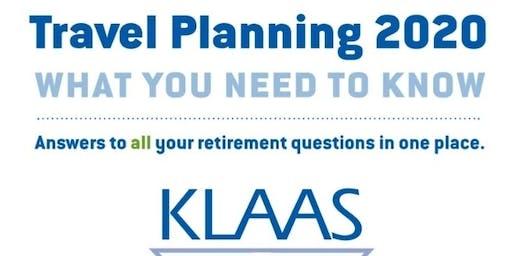 Travel Planning 2020 Rockford Christian and Klaas Financial
