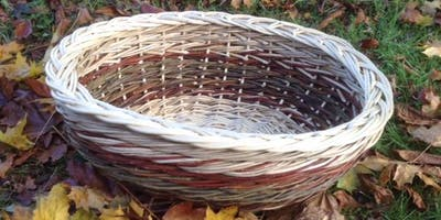 Willow Weaving Workshop with Wyldwood Willow - an oval laundry basket