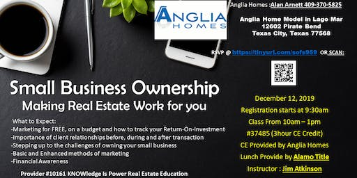 Realtor Only CE Class 3 Hrs - Small Business Ownership