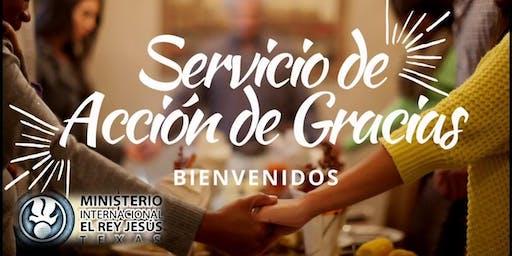 CENA DE ACCION DE GRACIAS - THANKSGIVING DINNER