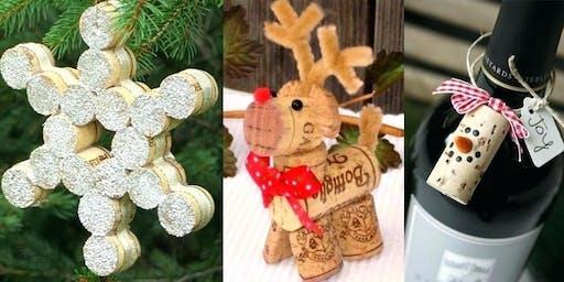 Craft & Sip (Wine Cork Ornaments)