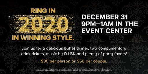 New Year's Eve Party at Ocean Downs Casino